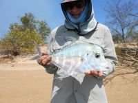 Bill Harvey with Diamond Trevally